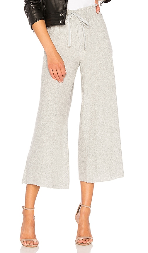 Bella Dahl Wide Leg Crop Pant in Gray