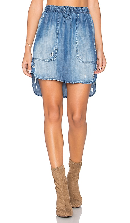 Bella Dahl Distressed Mini Skirt in Blue