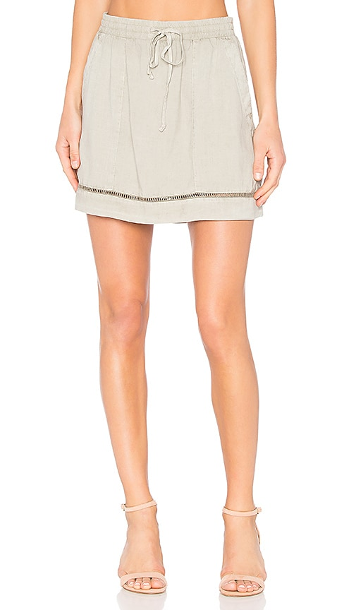 Bella Dahl Ladder Stitch Skirt in Gray
