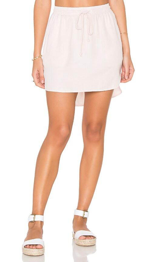 Bella Dahl Easy Drawcord Skirt in Rose Quartz