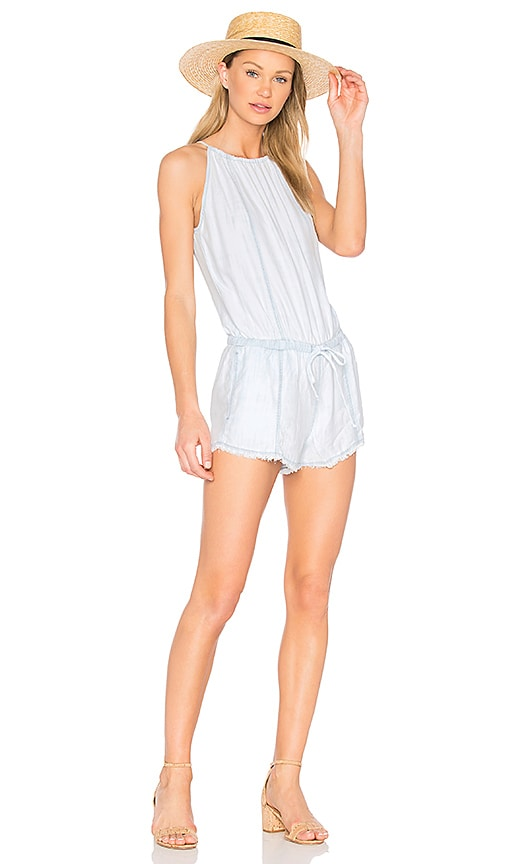 Bella Dahl Halter Romper in Blue