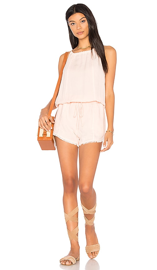 Bella Dahl Seams Romper in Pink