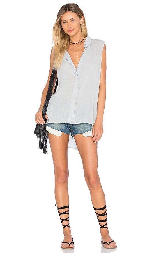 Bella Dahl Folded Yoke Shirt in Gray