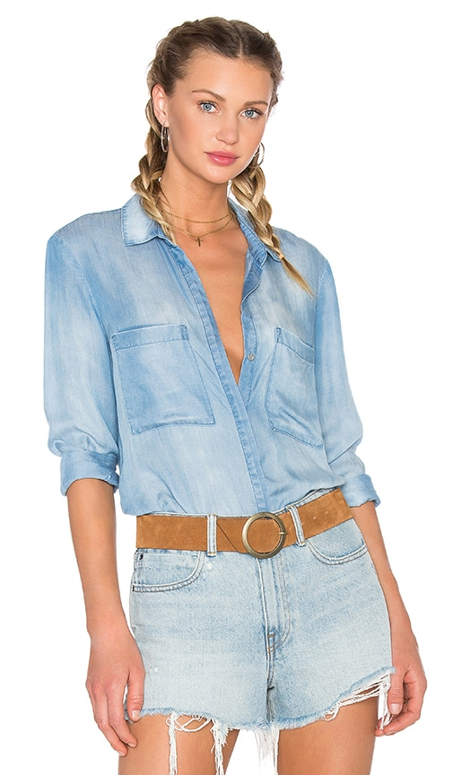 Bella Dahl Hipster Shirt in Blue