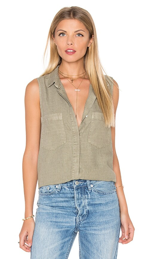 Sleeveless Boyfriend Shirt
