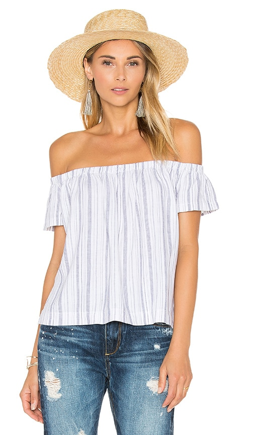 Bella Dahl Off The Shoulder Top in Blue