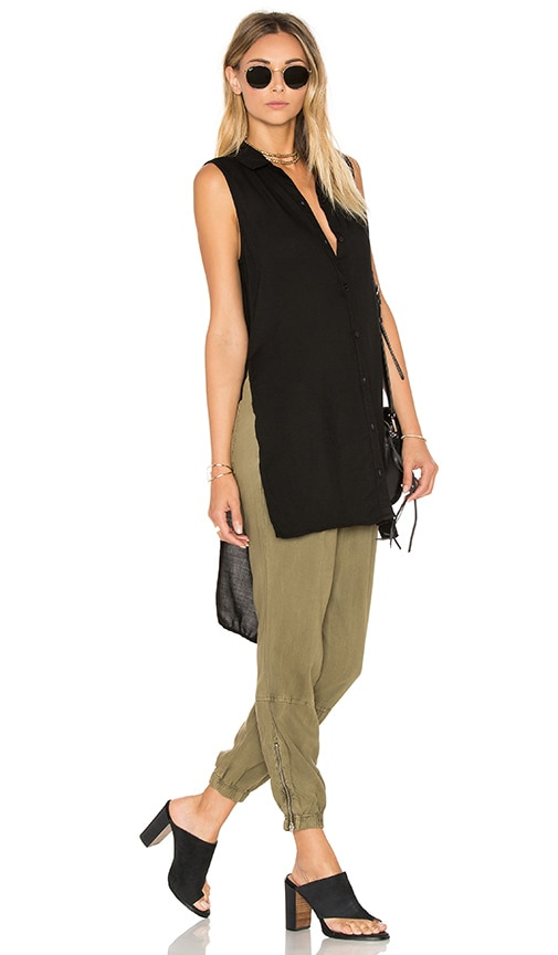 Bella Dahl High Low Tunic in Black