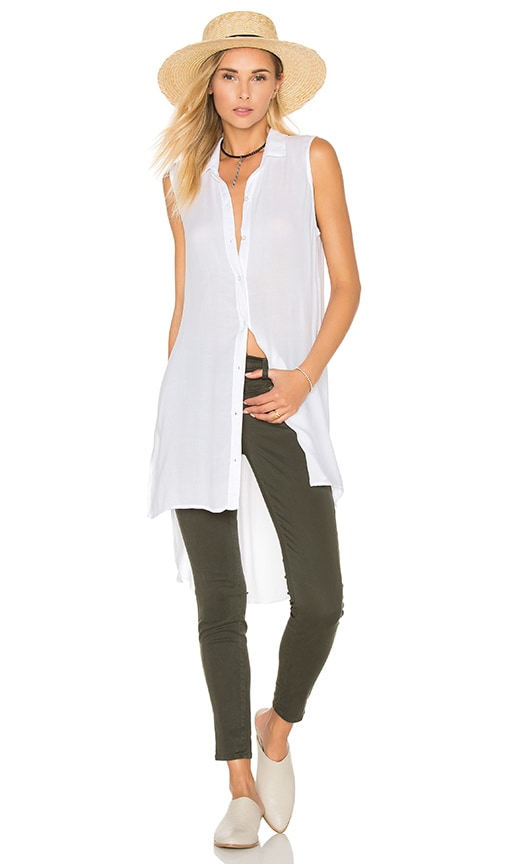 Bella Dahl High Low Tunic in White