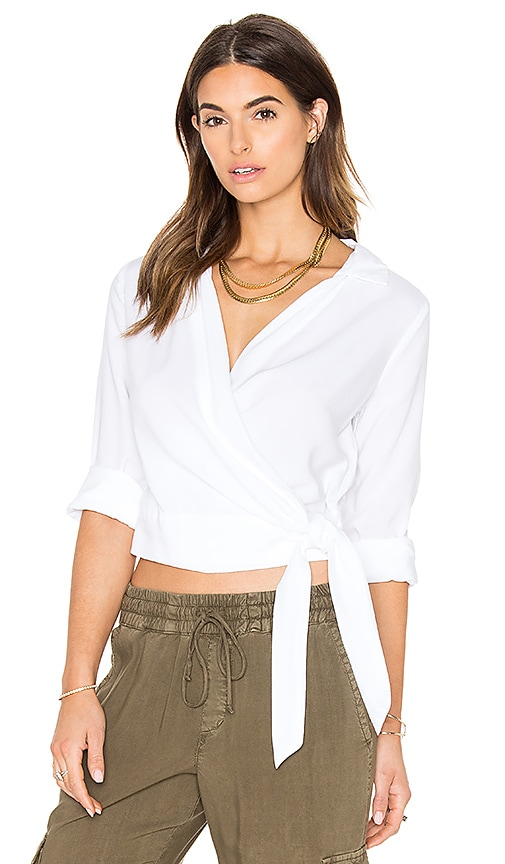 Bella Dahl Wrap Top in White