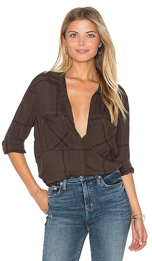 Bella Dahl Hipster Plaid Shirt in Olive