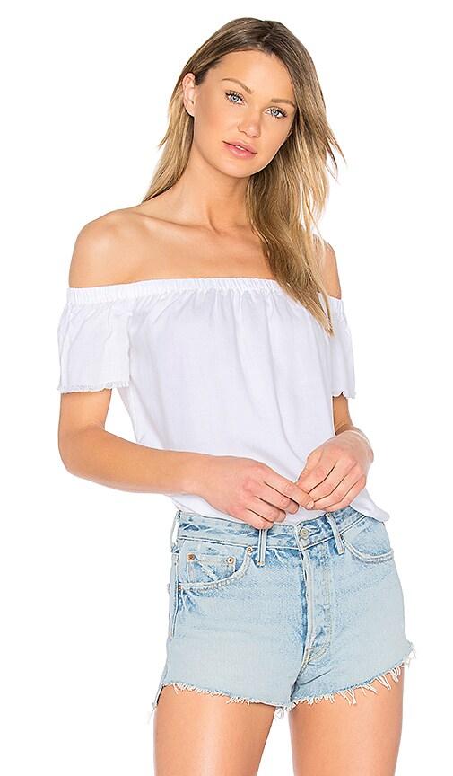 Bella Dahl Off Shoulder Top in White