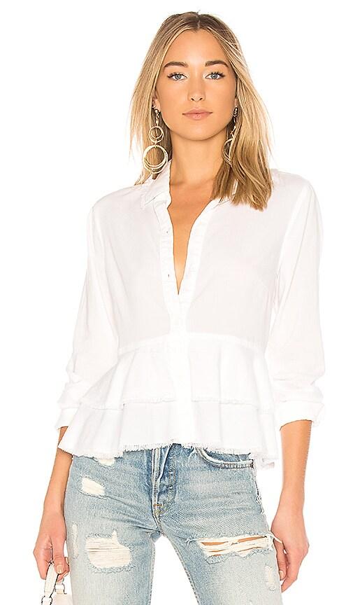 Bella Dahl Layered Peplum Shirt in White