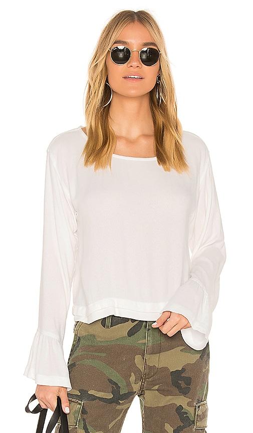 Bella Dahl Bell Sleeve Top in White