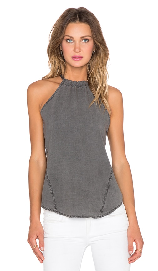 Bella Dahl Seams Halter Tank in Lunar Eclipse