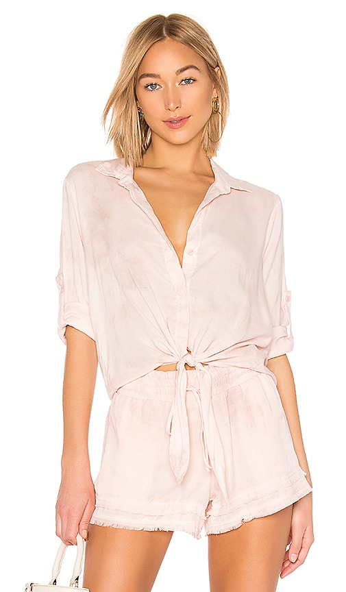 Tie Front Button Down Top