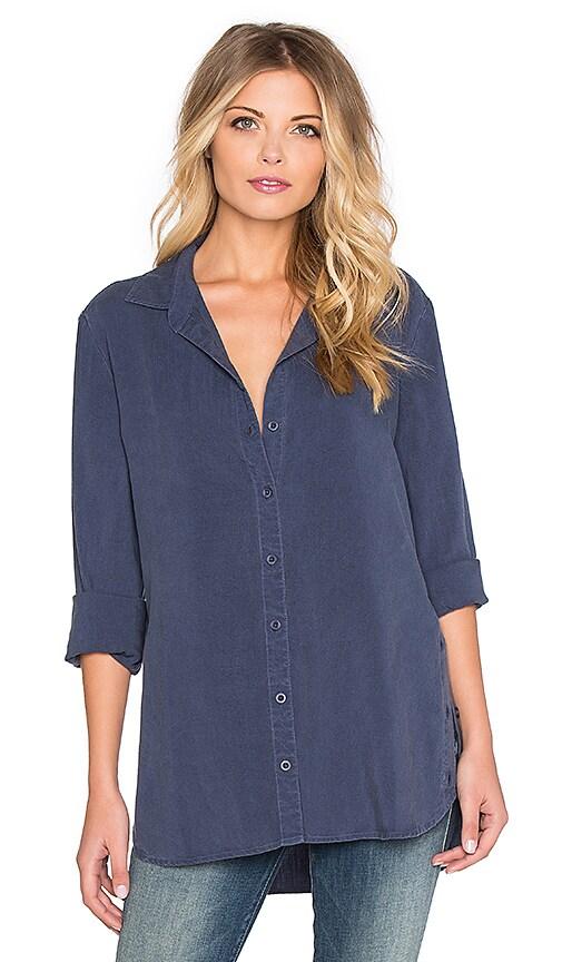 Bella Dahl Button Side Tunic in Midnight Mist