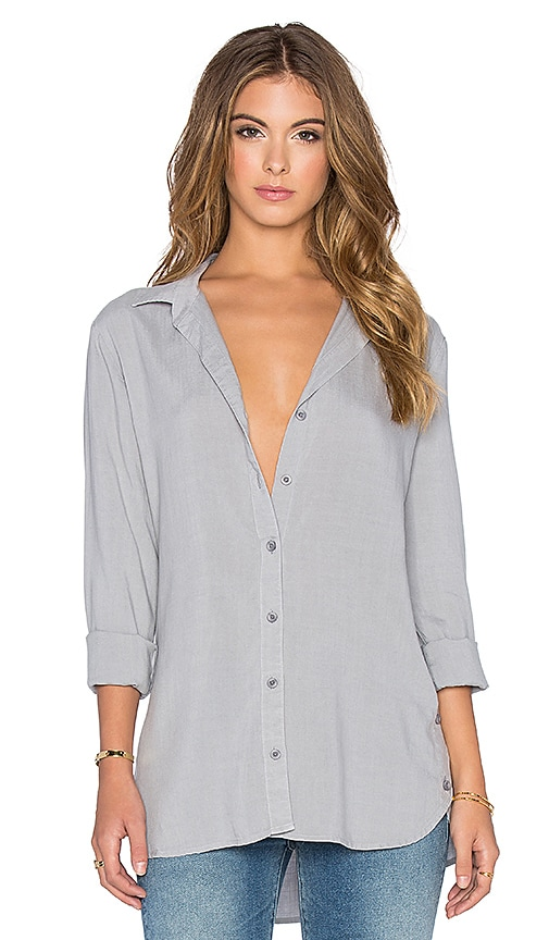 Bella Dahl Button Side Tunic in Lunar Rock