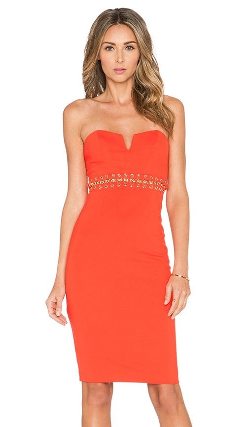 bless'ed are the meek Eternal Strapless Dress in Orange