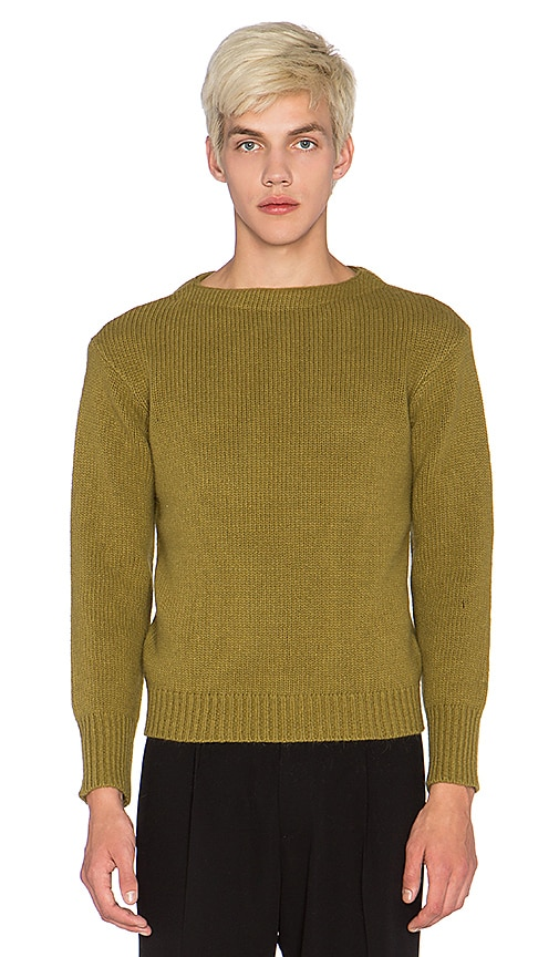 Blindness Oversized Sweater in Olive