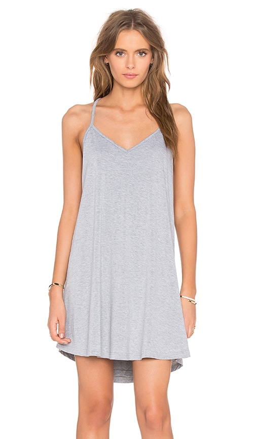 BLQ BASIQ Cross Back Tank Dress in Gray