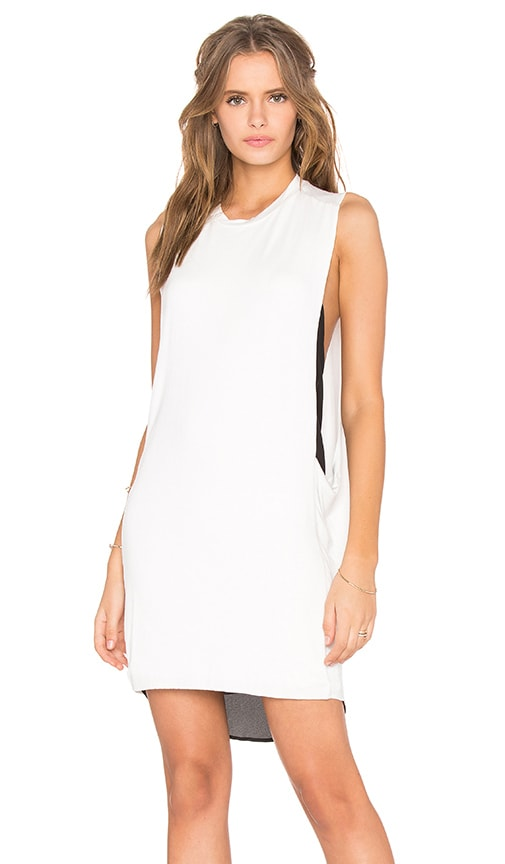 BLQ BASIQ High Neck Tank Dress in White