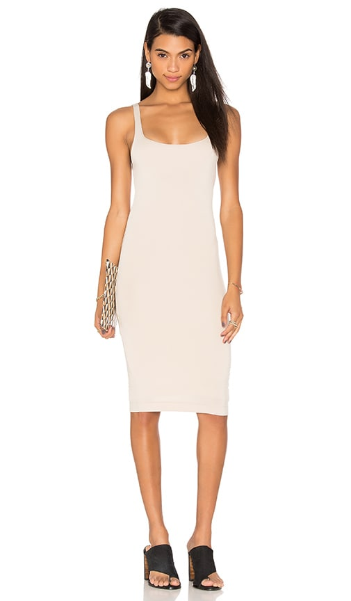 Back Slit Tank Midi Dress