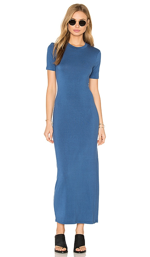 BLQ BASIQ Tee Maxi Dress in Blue