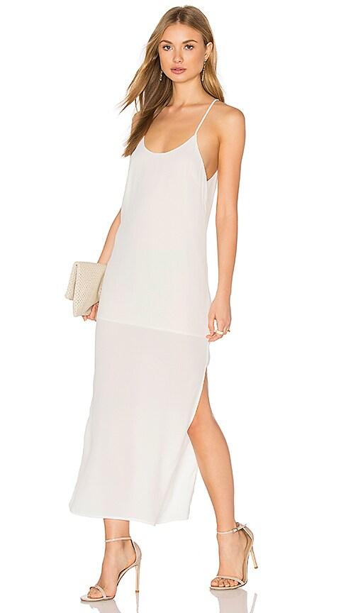 BLQ BASIQ Tank Midi Dress in White