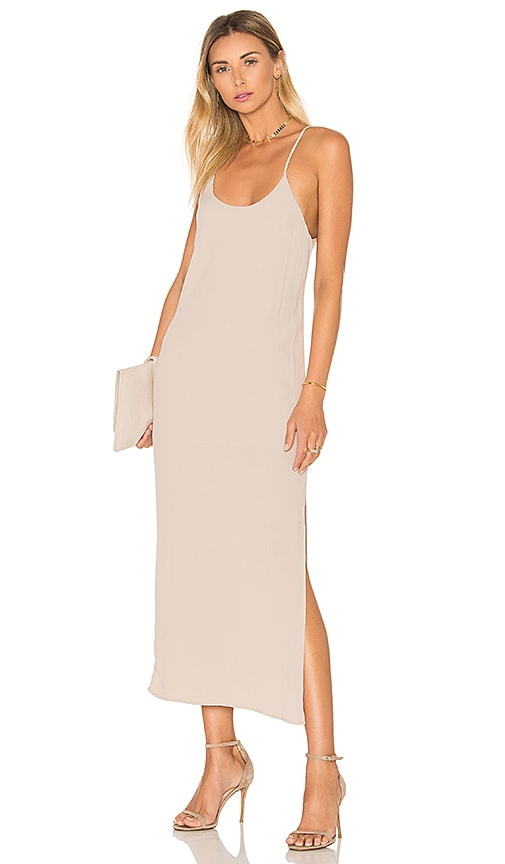 BLQ BASIQ Tank Midi Dress in Beige