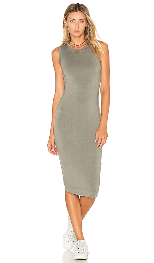BLQ BASIQ Tank Midi Dress in Sage