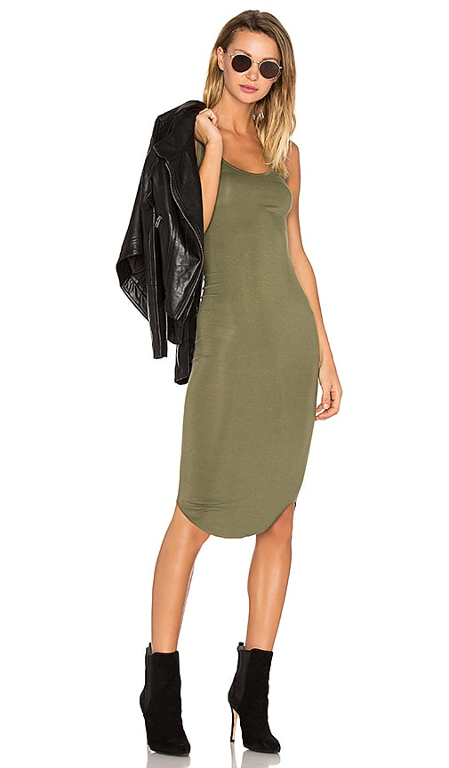 BLQ BASIQ Racer Tank Dress in Green