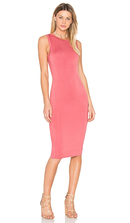 BLQ BASIQ Midi Tank Dress in Pink