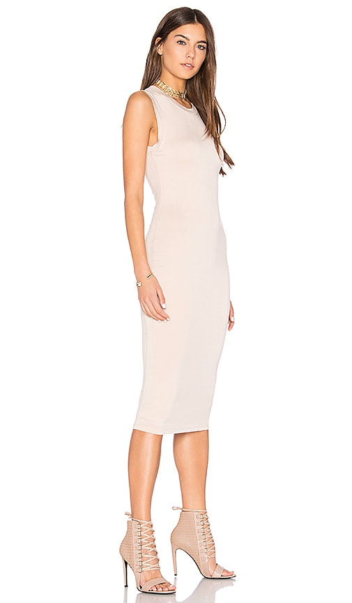 BLQ BASIQ Midi Tank Dress in White