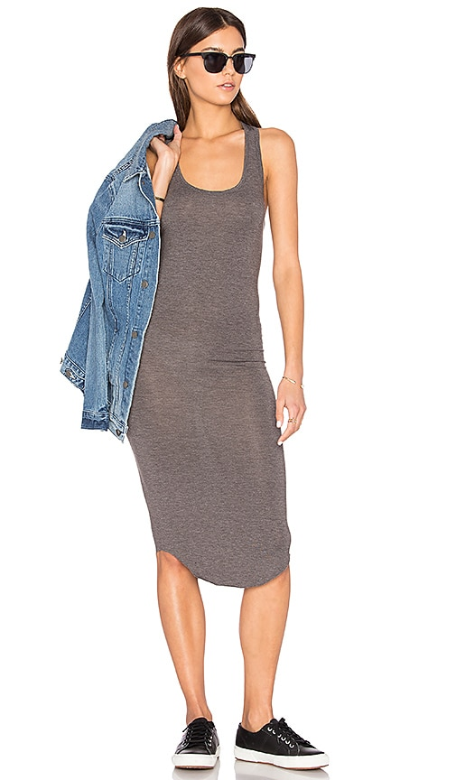 BLQ BASIQ Racer Tank Dress in Gray