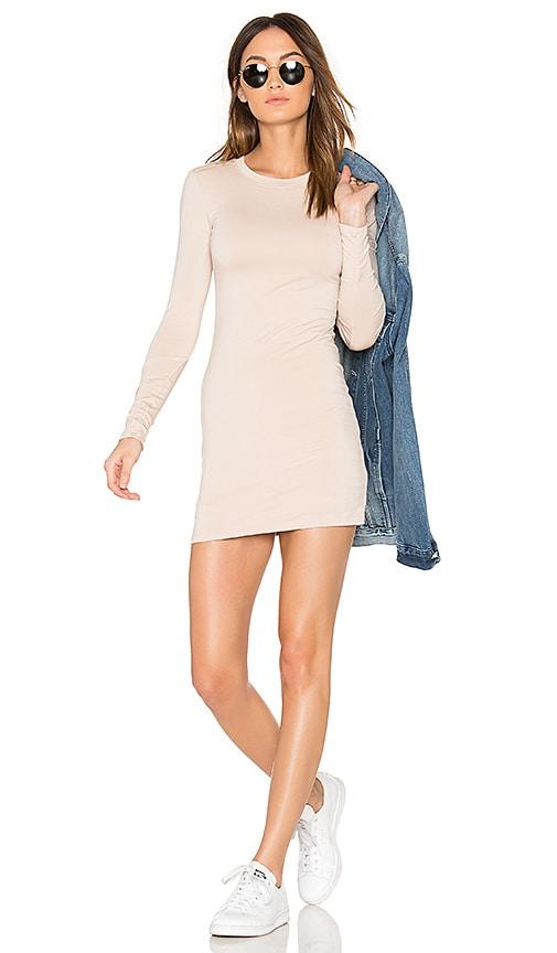 BLQ BASIQ Mini Long Sleeve Dress in White