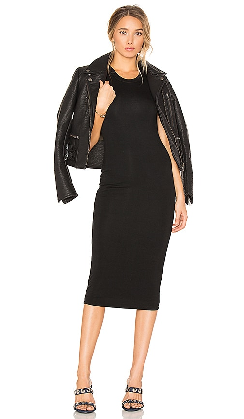 BLQ BASIQ Midi Tank Dress in Black