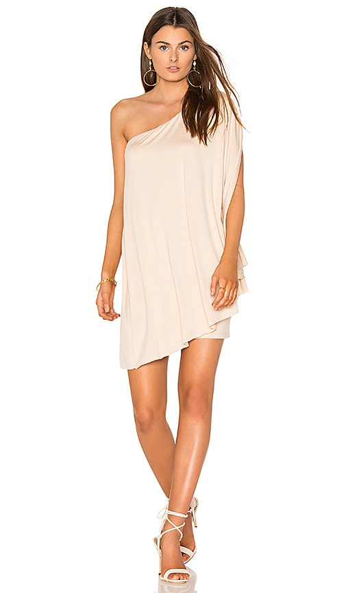 BLQ BASIQ Bat Wing Dress in Beige