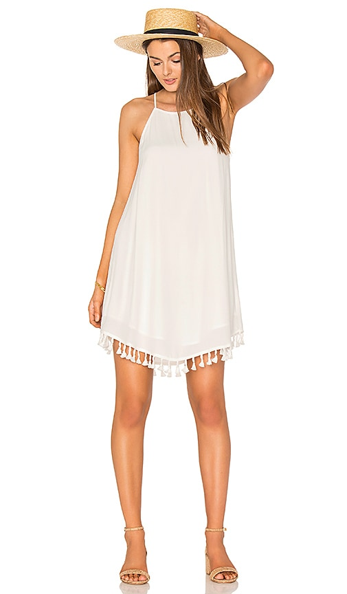 BLQ BASIQ Tank Dress With Tassel in White