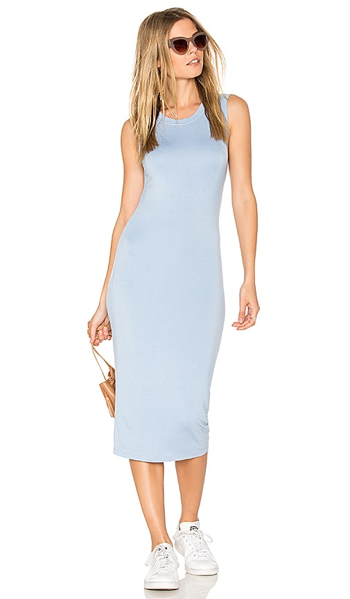 BLQ BASIQ Midi Tank Dress in Blue