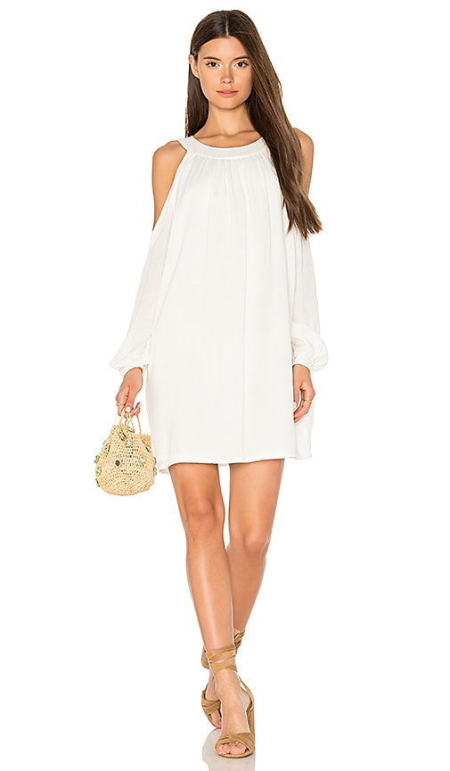 BLQ BASIQ Cold Shoulder Dress in White