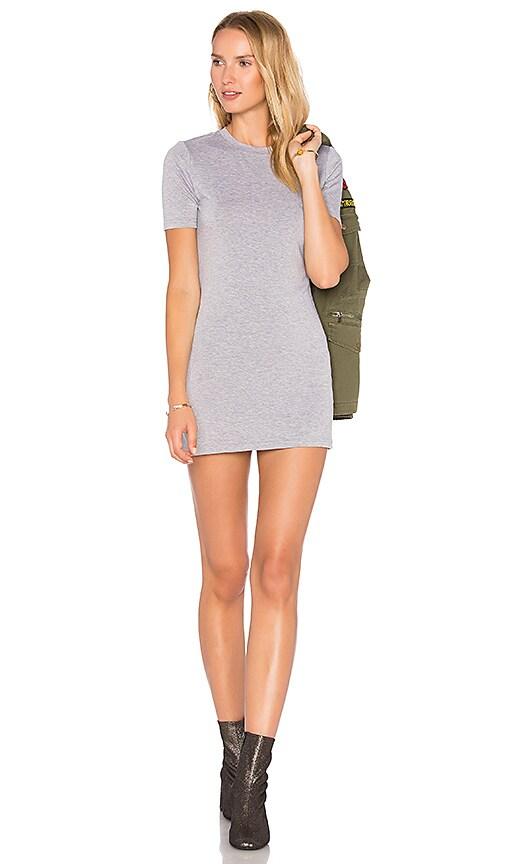 BLQ BASIQ Tee Dress in Gray