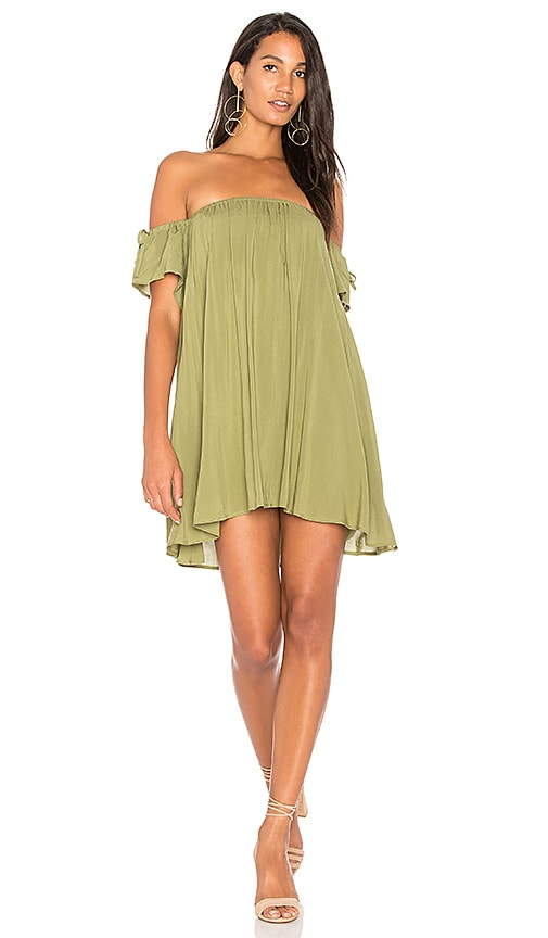 BLQ BASIQ Baby Doll Dress in Olive