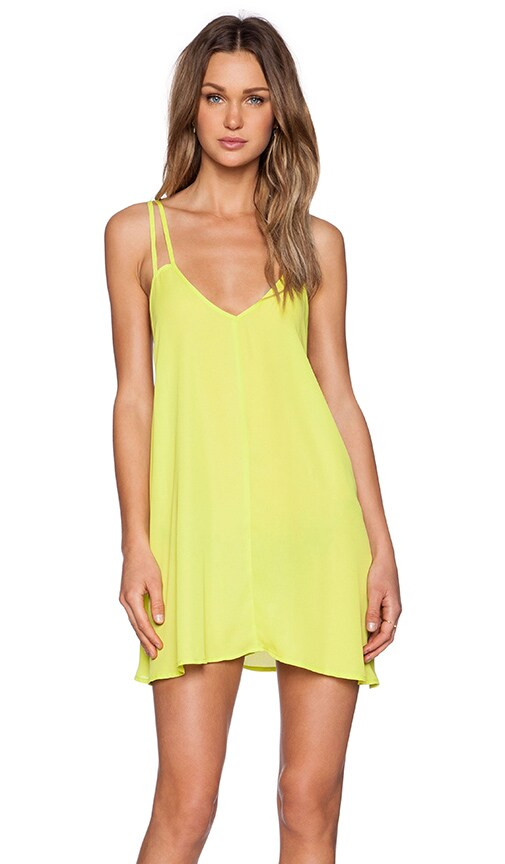 BLQ BASIQ Tank Dress in Yellow