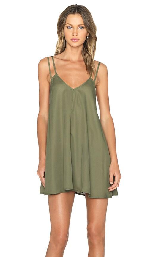 BLQ BASIQ Tank Dress in Olive