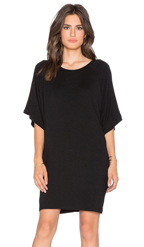 BLQ BASIQ T-Shirt Dress in Black