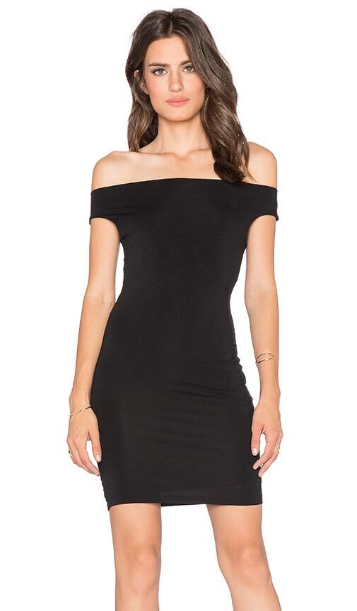 BLQ BASIQ Off Shoulder Dress in Black