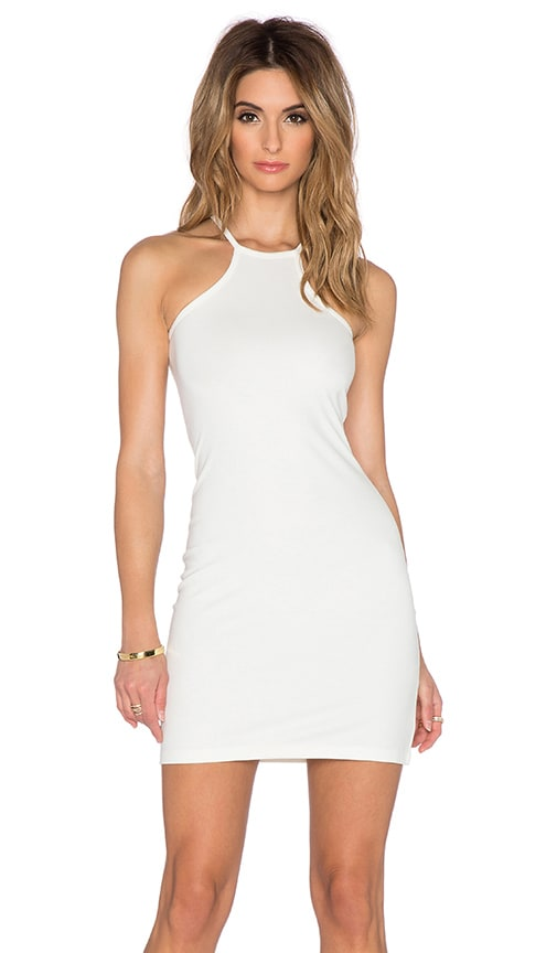 BLQ BASIQ Bodycon Racerback Dress in White