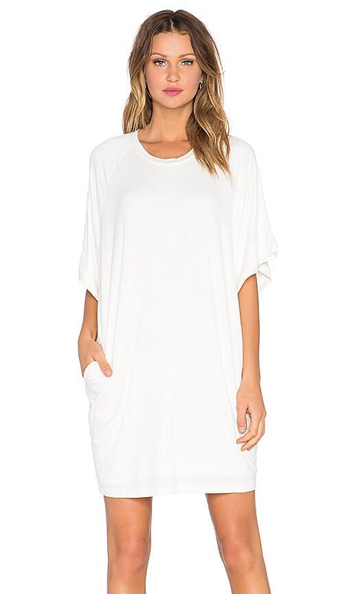 BLQ BASIQ Boxy Pocket Dress in Ivory