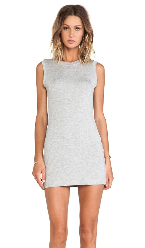BLQ Basics Tank Dress in Gray