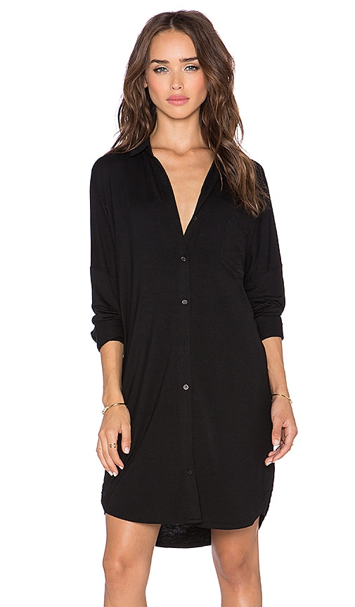 BLQ BASIQ Shirt Dress in Black